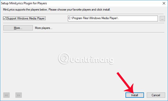 Kết nối MiniLyrics với Windows Media