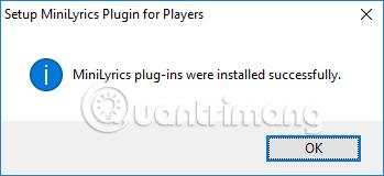 Cài đặt Plugin MiniLyrics