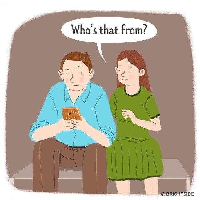 Ai nhắn tin cho anh đấy?