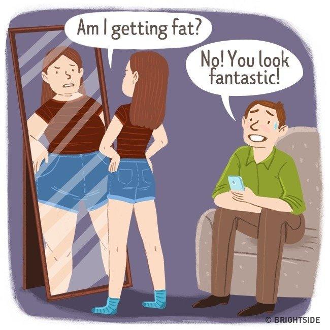 """""""Em đang béo lên đúng không?"""""""