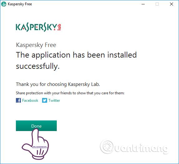 Cài đặt Kaspersky Free trên máy tính