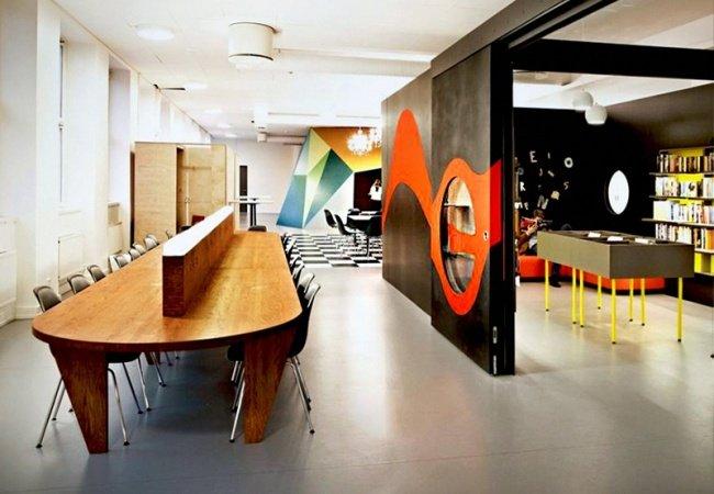 Không gian trong trường được ngăn cách bởi những thiết kế độc đáo và sáng tạo