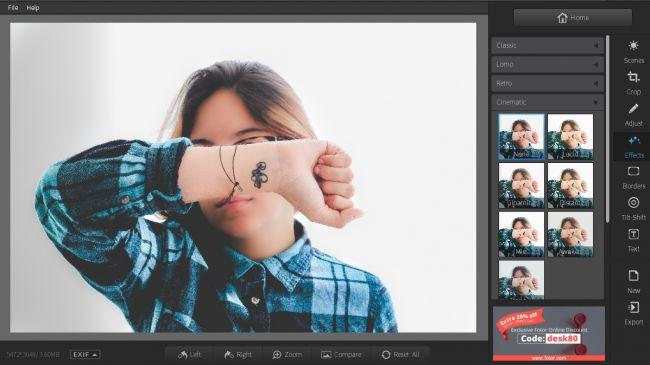 Phần mềm chỉnh sửa hình ảnh Fotor