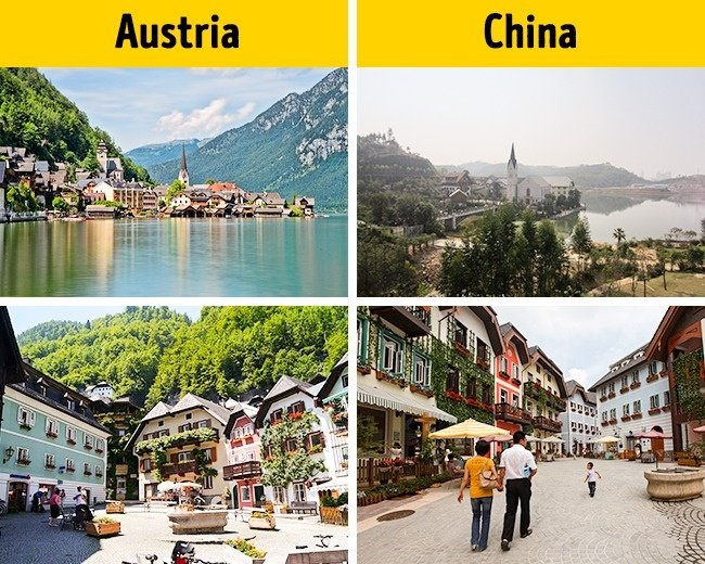 Austria's famous tourist town in the heart of China