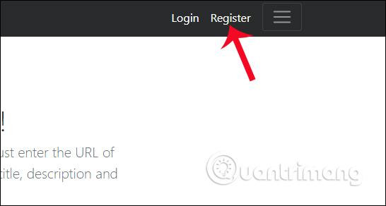 Nhấn chọn Register