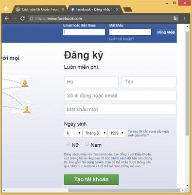 Cách lập nick Facebook, đăng ký Facebook mới nhanh chóng - Quantrimang.com