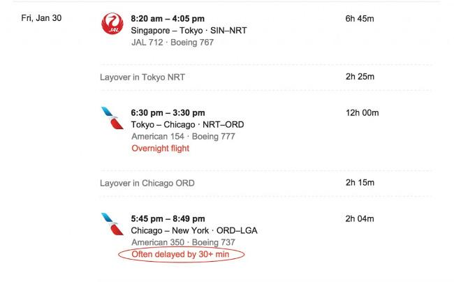 Cung cấp cho bạn thông tin chuyến bay nếu bị hoãn