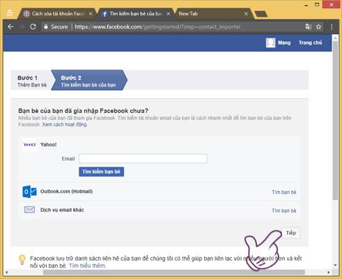 Đăng ký tài khoản Facebook trên điện thoại