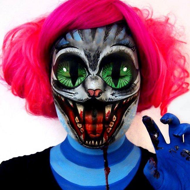 Khỏi cần mặt nạ cũng có thể biến thành chú hề được rồi!