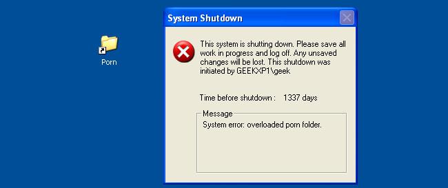 Tạo shortcut tắt máy tính giống thư mục
