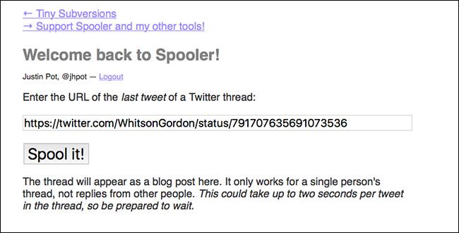 Dán liên kết vào trang Spool