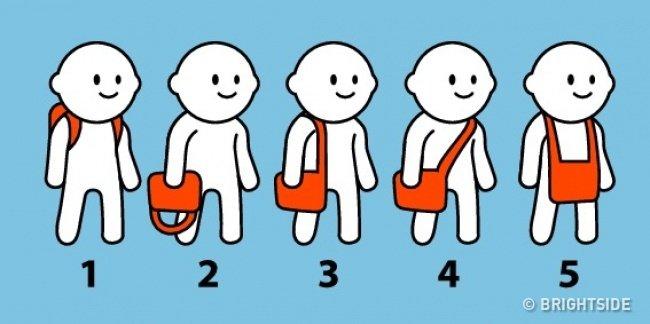 Bạn thường đeo túi kiểu nào? Điều đó sẽ tiết lộ tính cách bên trong con người bạn