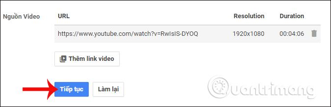 Cấu hình video phát live stream