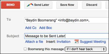 Nhấp chọn Send Later
