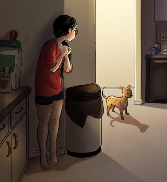 Là thế giới riêng nên dù sống một mình, cô ấy cũng không chán.