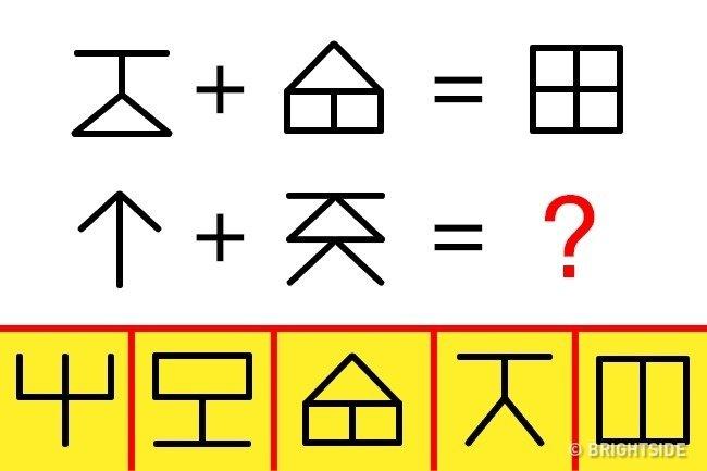 Biểu tượng nào trong ô màu vàng bên dưới sẽ nằm ở vị trí dấu chấm hỏi?