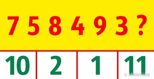Lựa chọn số thích hợp ở phía dưới thay thế dấu chấm hỏi.