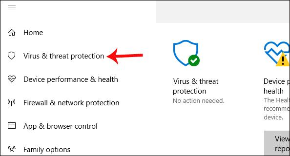 Nhấn chọn Windows Defender Summary