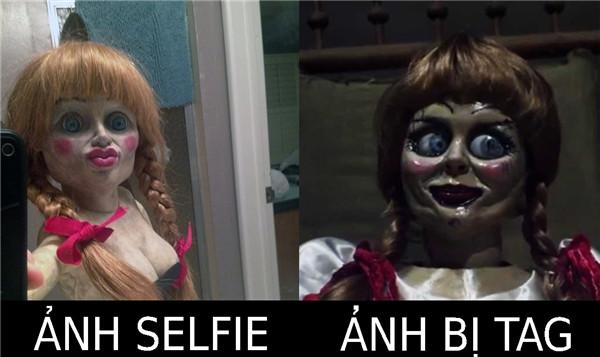Annabelle cũng biết dùng Facebook đấy
