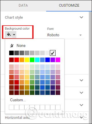 Thay đổi màu nền cho biểu đồ