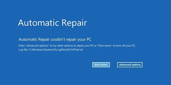 Lỗi lặp Automatic Repair