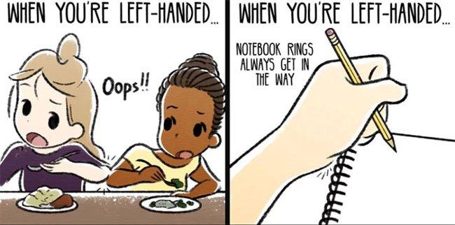 Khi thuận tay trái làm gì cũng khó
