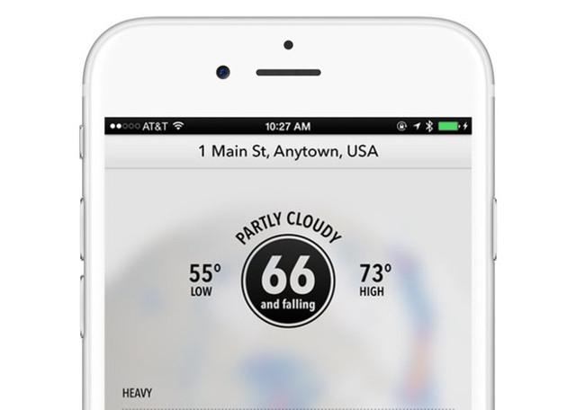 Dark Sky sử dụng GPS để đưa ra các dự báo thời tiết cho vị trí chính xác mà bạn đang có mặt