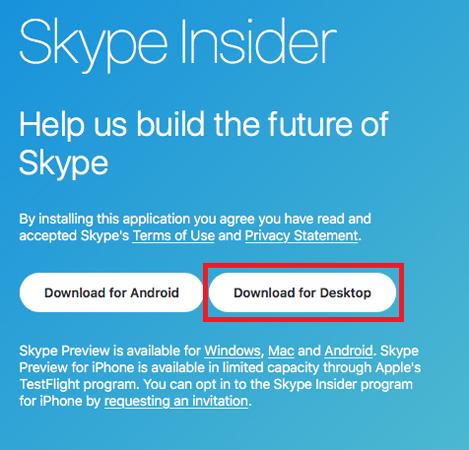 Dùng thử ứng dụng Skype mới được thiết kế lại trên Mac và