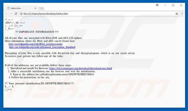 Tập tin Lukitus HTML
