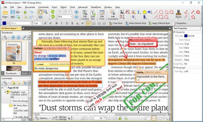 Phần mềm PDF-Xchange Editor