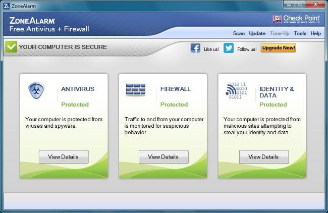 Phần mềm ZoneAlarm Free Firewall