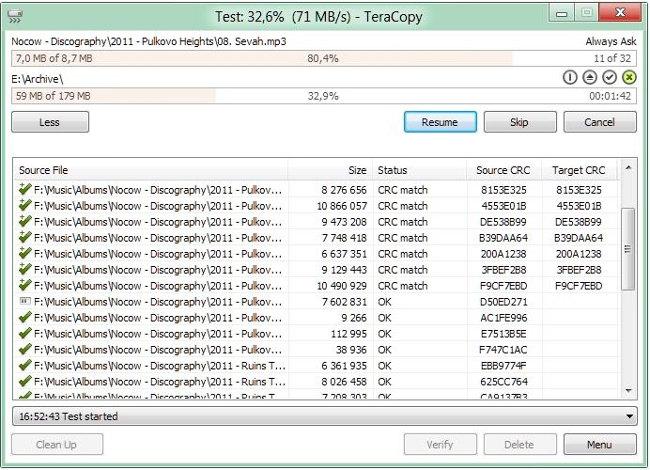 Phần mềm Teracopy