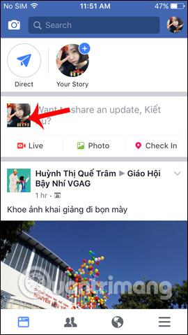 Truy cập giao diện tài khoản Facebook