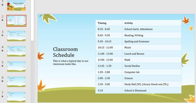 Mẫu slide PowerPoint trình bày kế hoạch năm học mới