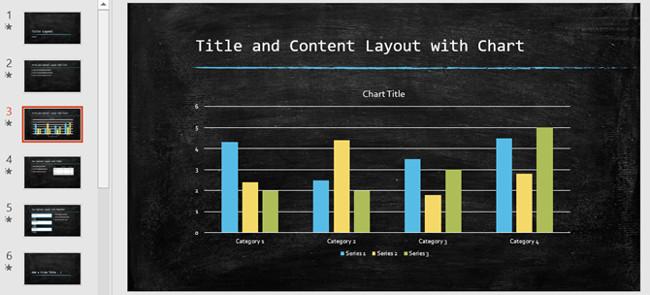 Mẫu slide PowerPoint theme bảng đen