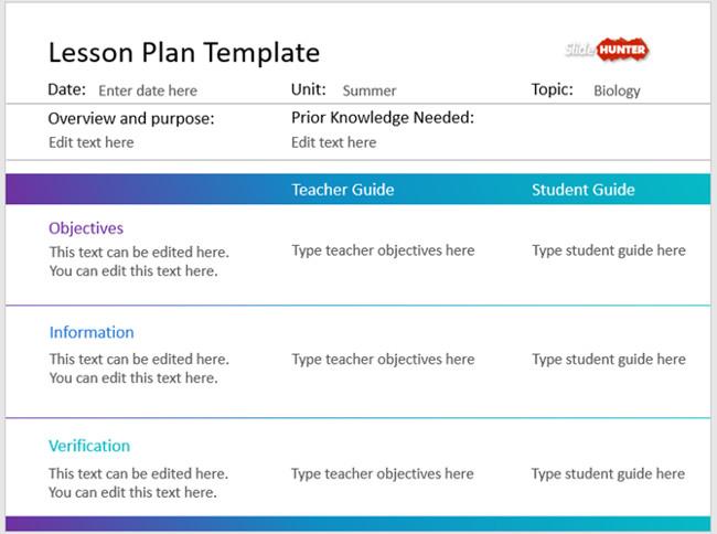 Mẫu slide PowerPoint cho kế hoạch học tập đơn giản