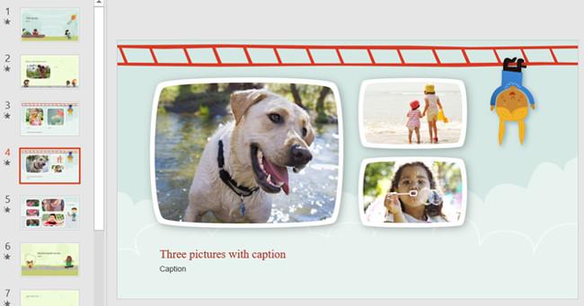 Mẫu slide PowerPoint dành cho trẻ em