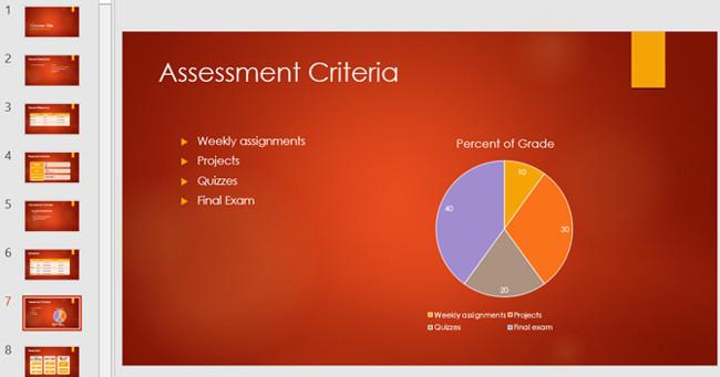 Mẫu slide PowerPoint trình bày về tổng quan khóa học