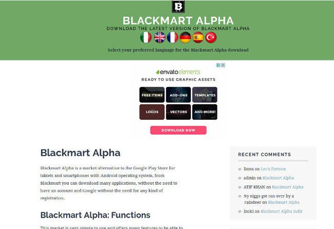 Cửa hàng ứng dụng Blackmart Alpha