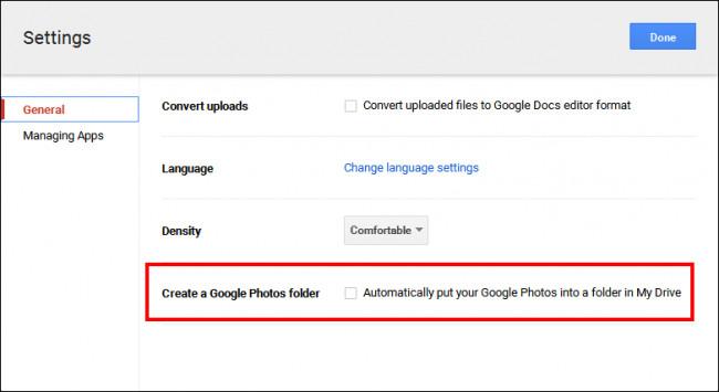 Bật tùy chọn xem ảnh Google Drive trong thư viện ảnh
