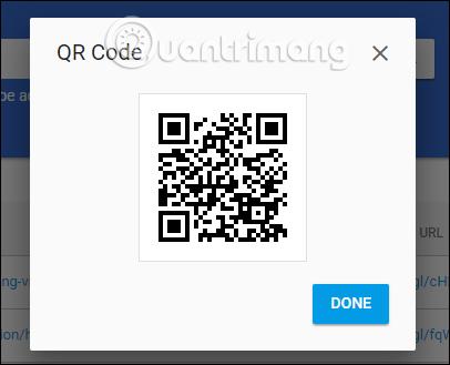 Chia sẻ mã QR link rút gọn