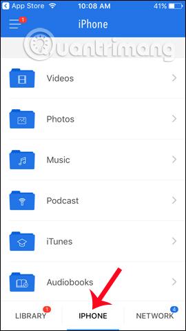 Quản lý thư mục iPhone