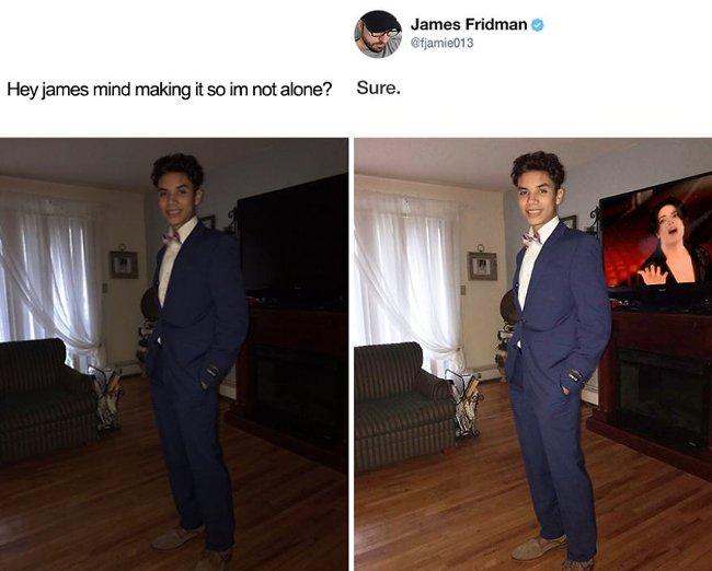 """""""Bạn có thể giúp tôi không cô đơn được không James?"""""""