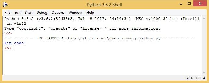 Kết quả chạy code Python
