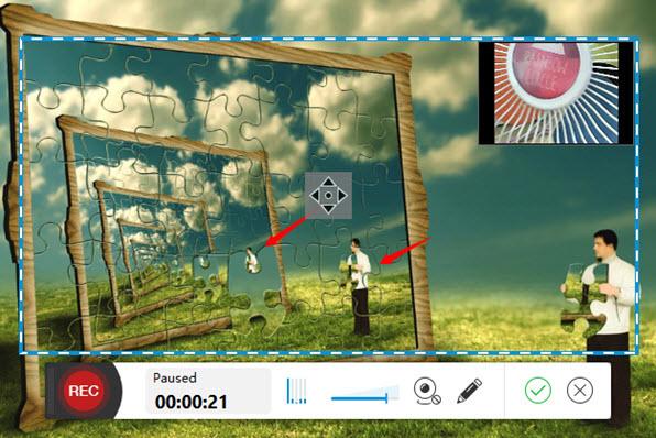 Chọn dấu tích màu xanh để lưu video