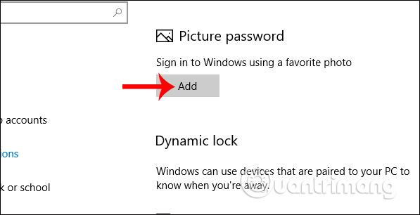 Chọn hình ảnh tạo mật khẩu Windows 10