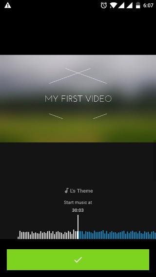 Chọn đoạn nhạc cho vào video