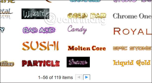 Chủ đề tạo logo trên Cooltext
