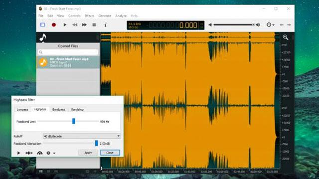 Phần mềm Ocenaudio