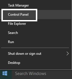 Select Control Panel